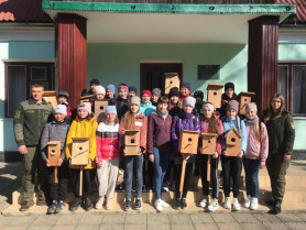 Учні Цуманського шкільного лісництва разом із працівниками місцевого лісового господарства