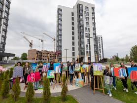 У Луцьку відбувся урбан-пленер: хто прийшов і що малювали. ВІДЕО, ФОТО