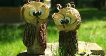 Дерев'яні сови у ківерцівському парку