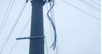 Електроопора, з якої викрали муфту