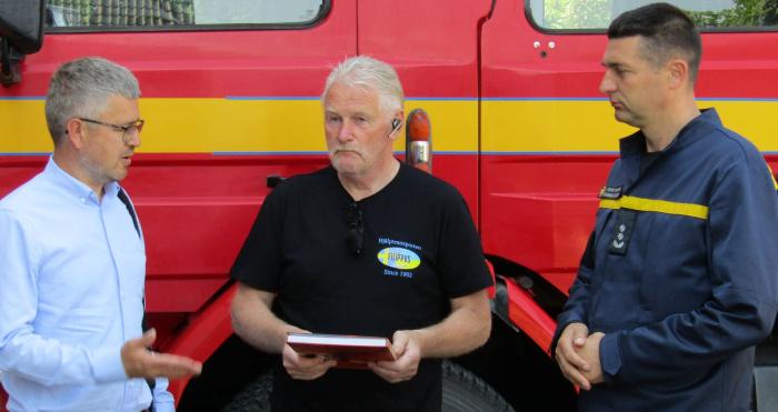 Вручення пожежного автомобіля ківерцівським рятувальникам