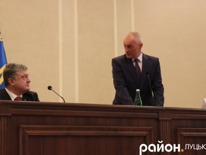 Олександр Савченко під час представлення головою Волинської ОДА