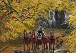 Картина «Полювання поблизу Олики», яка датується1889 роком