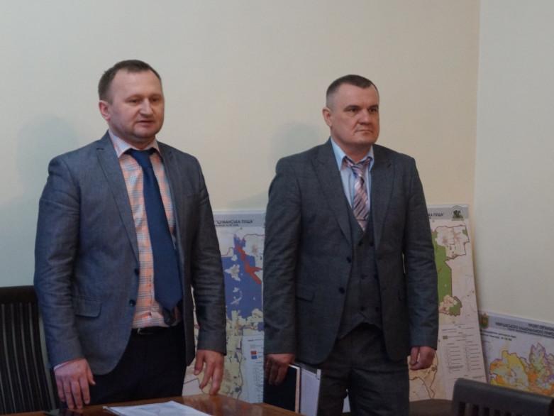 Новий очільник парку та Начальник управління екології та природних ресурсів Волинської ОДА