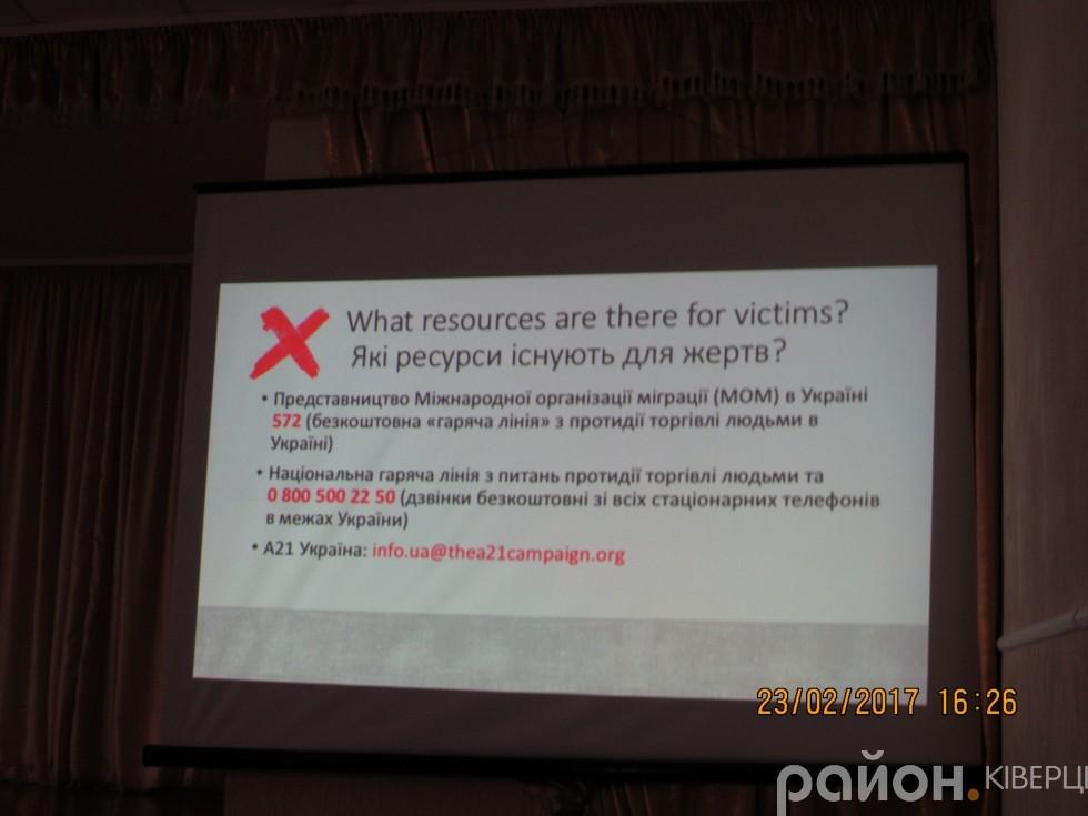 Презентація про торгівлю людьми у світ