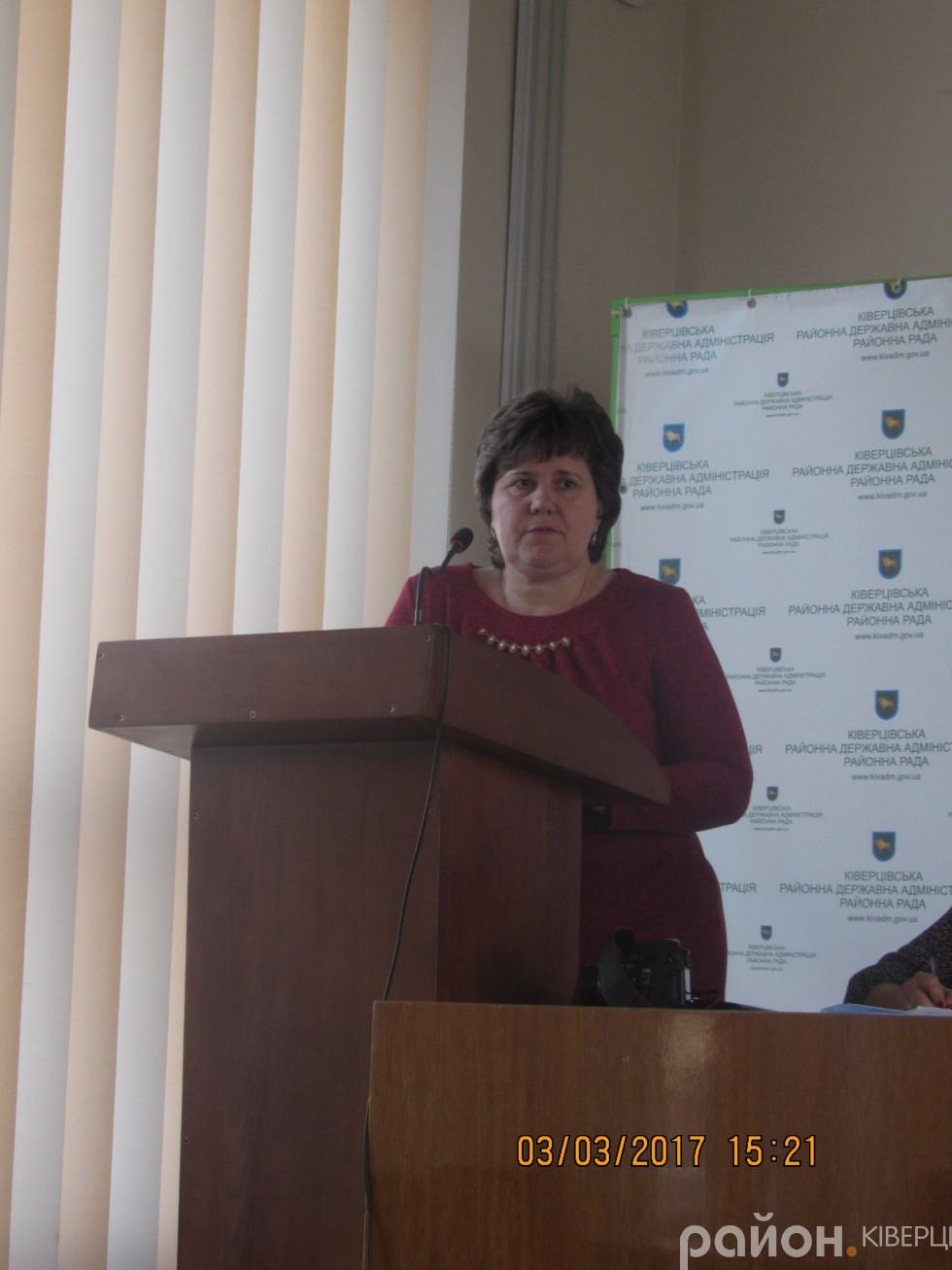 Начальник управління фінансів Олена Єгорушкіна