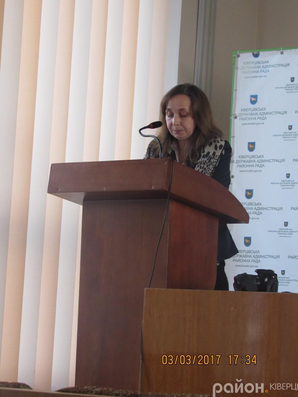 Секретар Ківерцівської міської ради Оксана Баранович