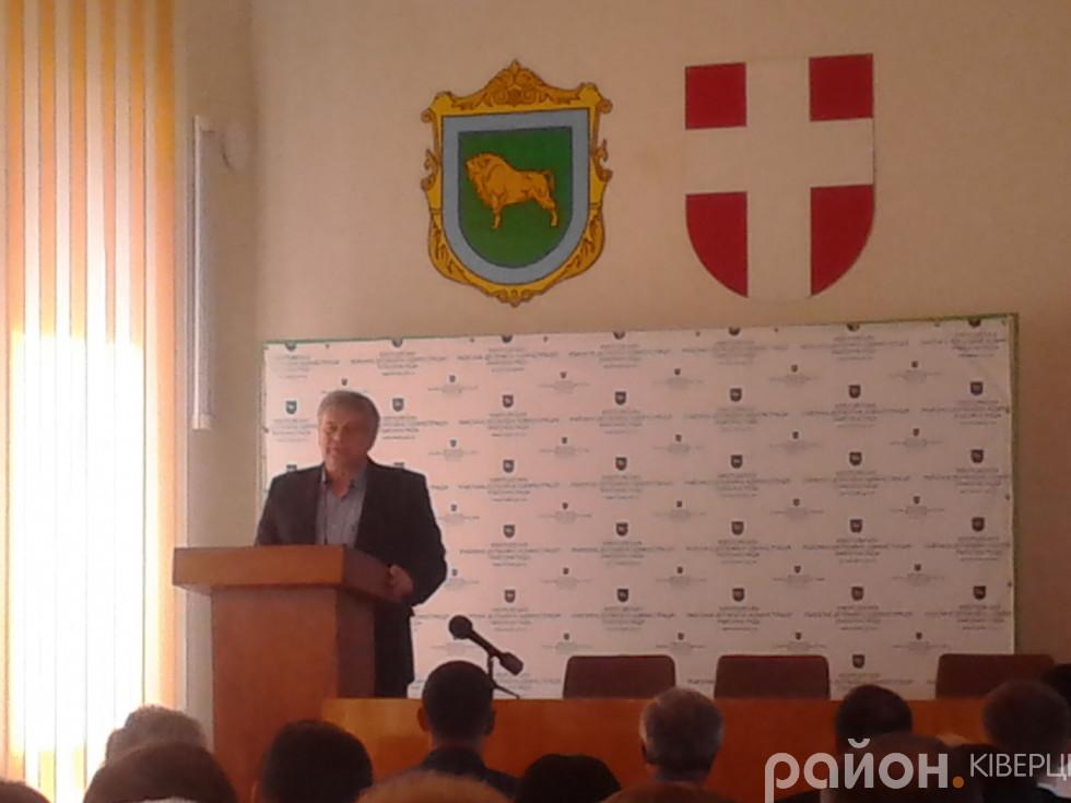Кандидат на посаду голови Ківерцівської райради Олександр Кушнір від Громадянської позиції