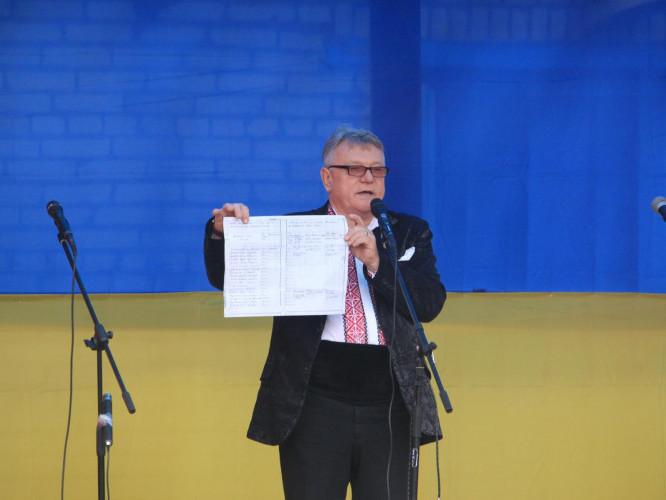 Василь Чепелюк на фестивалі «Криївка Перця»
