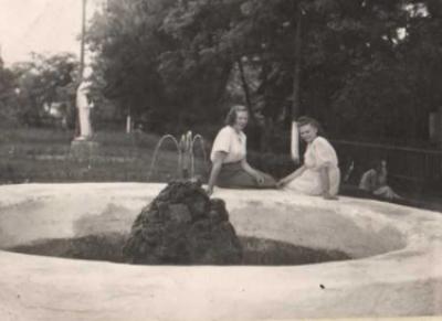 Фонтан біля перону. 1988 рік