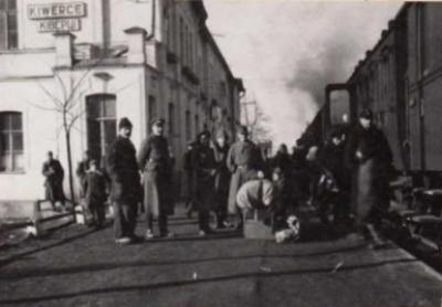 Перон станції Ківерці. 1923 рік