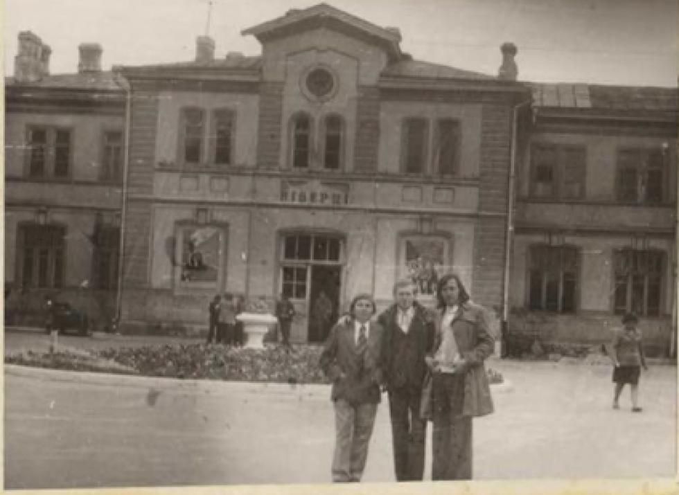 Центральний вхід у вокзал. 1974 рік