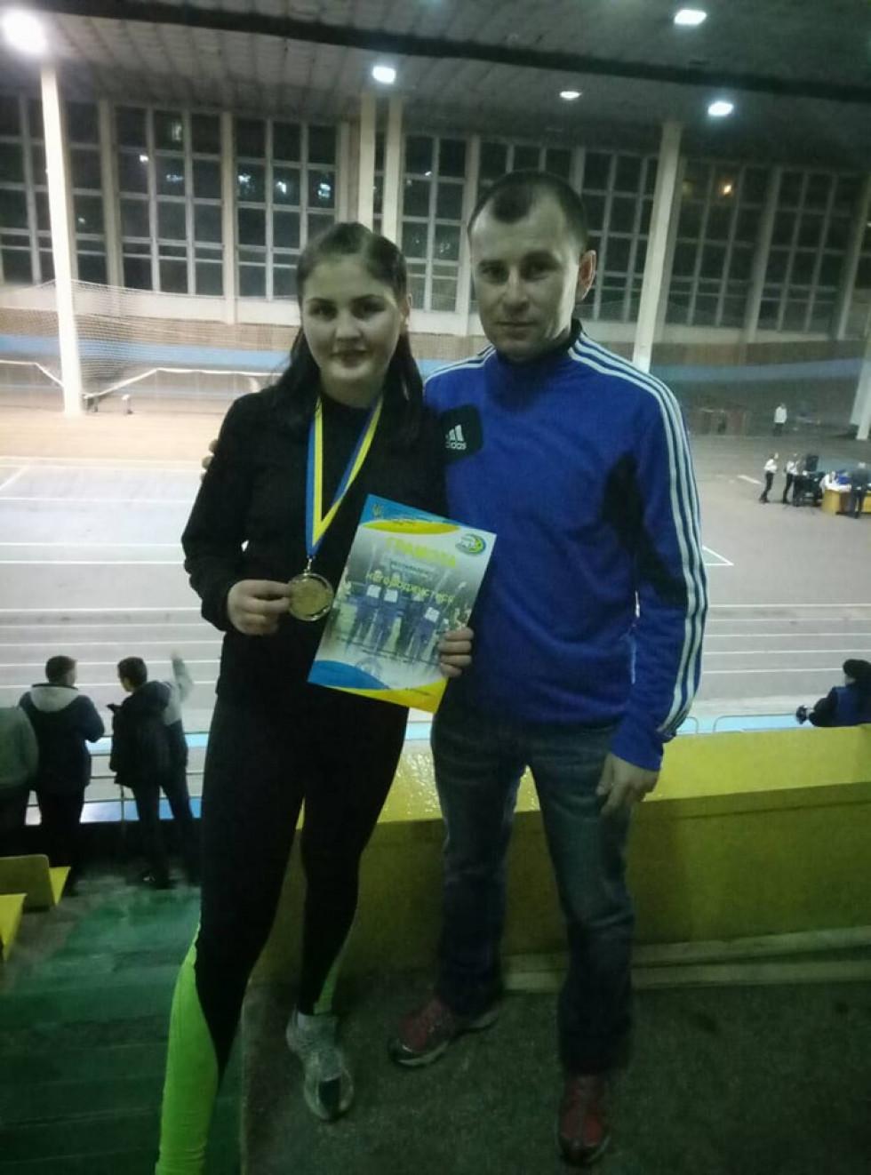 Мирослава Панасюк з тренером Олександром Данилюком