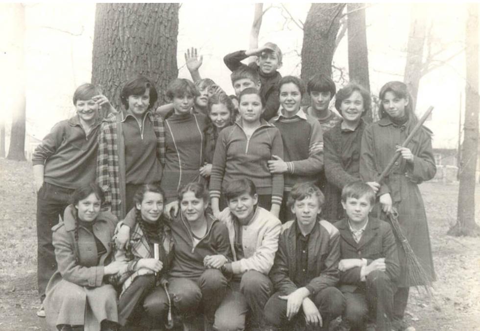 Суботник в парку. Квітень 1983 рік