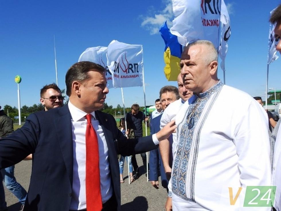 Олега Ляшка зустрічають в Цумані. Літо 2017-го