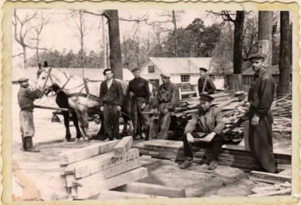 Ремонтно-будівельна дільниця №4. 1954 рік