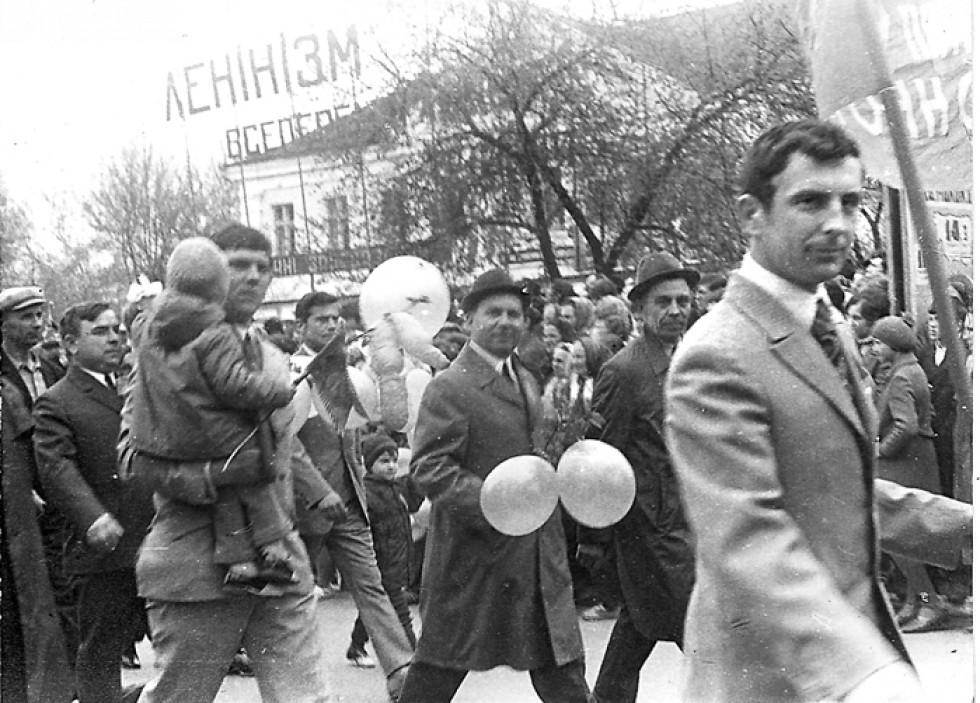 Мітинг по вулиці Незалежності. 80-ті роки