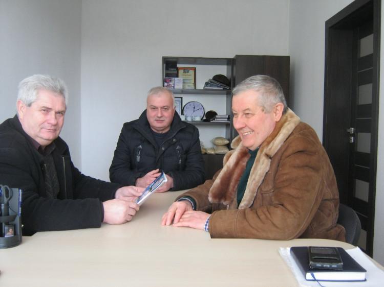 В ході зустрічі: Микола Музичук, Михайло Марчук та Анатолій Сокол
