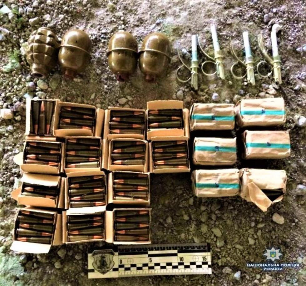 Зброя, вилучена у жителів Волинської області