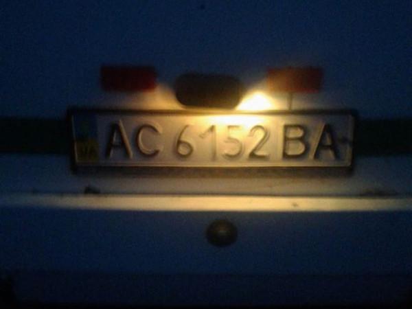 Номерні знаки маршрутного таксі