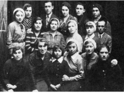 Єврейське населення Олики на ретро фото