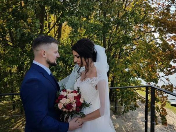 Сергій Мерчук  з нареченою Галиною