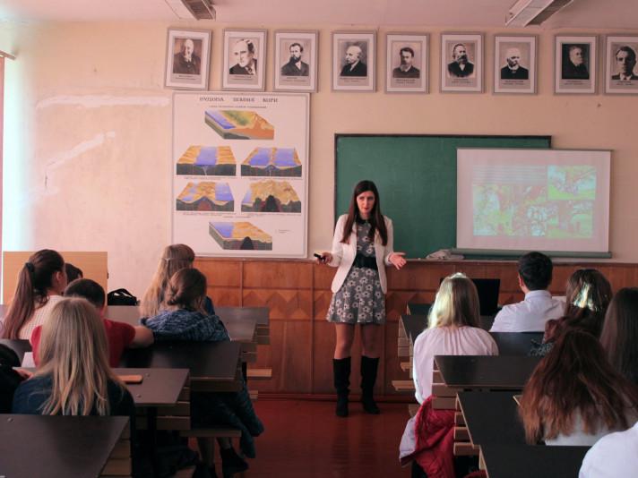 Працівники Ківерцівського НПП «Цуманська пуща» на географічному факультеті СНУ