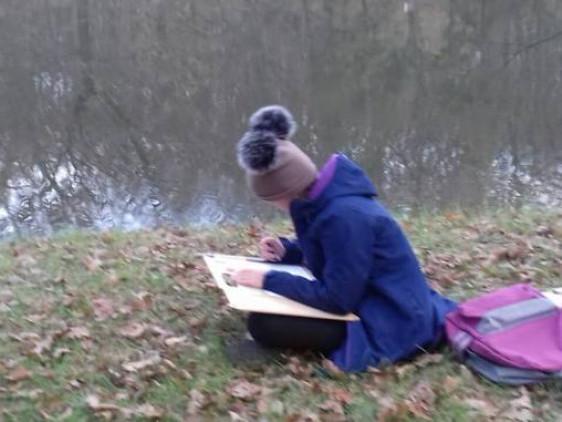 У вихідні юні художники з Торчина малювали природу Воротнева