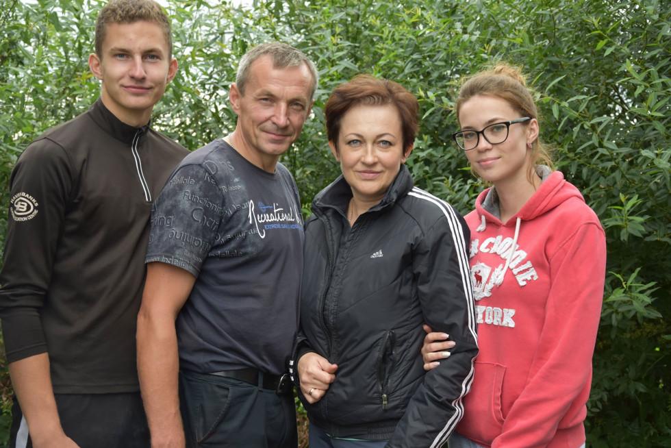 Ліна Савченко з близькими