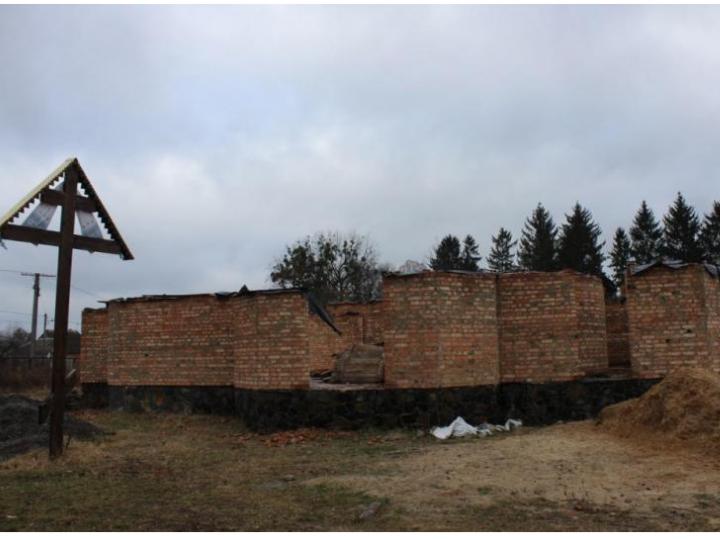 Олика: розпочали будівництво Свято-Воскресенського храму УПЦ КП
