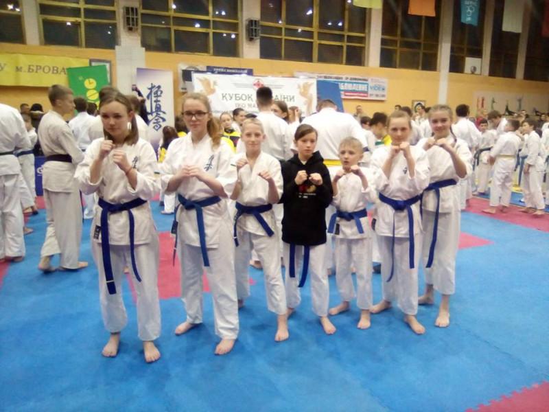 Каратисти з Ківерцівщини вибороли «золоті» та «срібні» медалі на Київщині