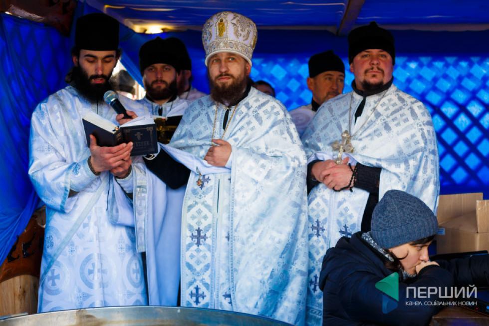 Освячення води. Настоятель монастиря Костянтин Марченко