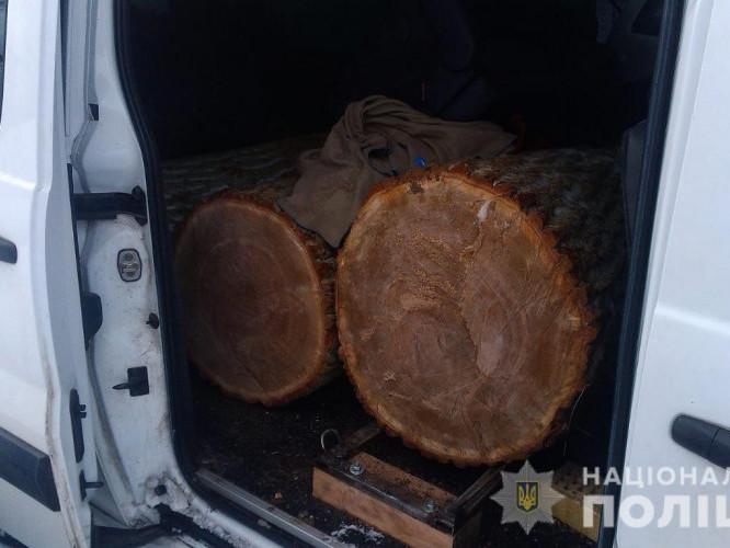 Цумань: у селищі затримали авто з деревиною
