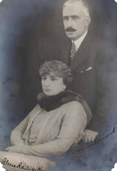 Анна Любомирська з чоловіком Янушем Радзівіллом 1930 рік