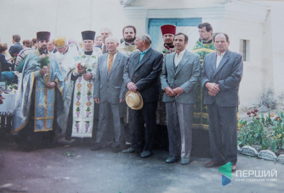 На «теплого Миколи» в Жидичині. Михайло Бучак разом зі священиками та прихожанами
